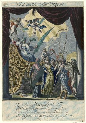 De gekroonde Vrede door Isaacz. en Savery